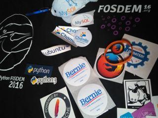 Butin du FOSDEM 2016 - miniature